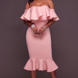 Perfect Pink Ruffle Dress!